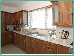 Kitchen facilities at Carraroe 4 star self catering accommodation