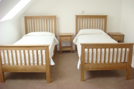 Twin bedroom Carraroe Holiday Lodges
